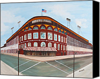 Ebbets Field Canvas Prints - Ebbets Field Canvas Print by Paul Cubeta