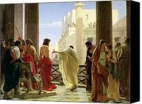 Spectators Canvas Prints - Ecce Homo Canvas Print by Antonio Ciseri