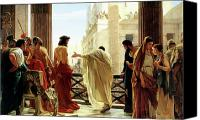 Ecce Canvas Prints - Ecce Homo Canvas Print by Antonio Ciseri
