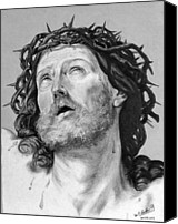 Miguel Rodriguez Canvas Prints - Ecce Homo Canvas Print by Miguel Rodriguez