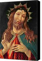 Ecce Canvas Prints - Ecce Homo or The Redeemer Canvas Print by Botticelli