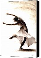 Collectable Painting Canvas Prints - Eclectic Dancer Canvas Print by Richard Young