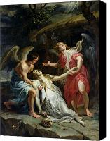 Magdalene Canvas Prints - Ecstasy of Mary Magdalene Canvas Print by Peter Paul Rubens