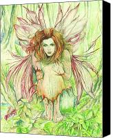 Fantasy Art Canvas Prints - Edana The Fairy Collection Canvas Print by Morgan Fitzsimons