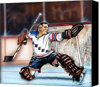 Hockey Goalie Canvas Prints - Eddie Giacomin Canvas Print by Dave Olsen