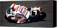Autographed Painting Canvas Prints - Eddie Lawson - Suzuka 8 Hours Canvas Print by Jeff Taylor