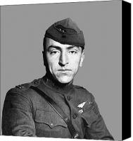 Moh Digital Art Canvas Prints - Eddie Rickenbacker Canvas Print by War Is Hell Store