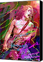 Blues Guitar Canvas Prints - Eddie Van Halen Jump Canvas Print by David Lloyd Glover