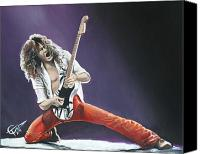 Heavy Metal Canvas Prints - Eddie Van Halen Canvas Print by Tom Carlton