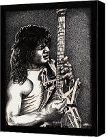 Guitar Hero Canvas Prints - Eddie VanHalen Canvas Print by Kathleen Kelly Thompson