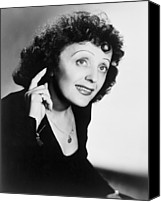 Edith Piaf Canvas Prints - Edith Piaf 1915-1963, French Ballad Canvas Print by Everett