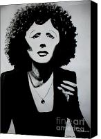 Edith Piaf Canvas Prints - Edith Piaf Canvas Print by Karin Heydukova
