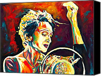 Singer Painting Canvas Prints - Edith Piaf- La Mome Canvas Print by Vel Verrept