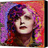 Edith Piaf Canvas Prints - Edith The Legend Canvas Print by Navo Art