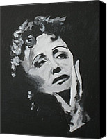 Edith Piaf Canvas Prints - Edith Canvas Print by Zhanna Diachenko