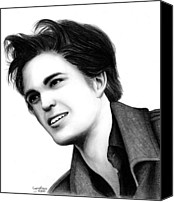 Kristen Stewart Canvas Prints - Edward Cullen Canvas Print by Crystal Rosene