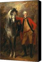 Military Uniform Painting Canvas Prints - Edward Viscout Ligonier Canvas Print by Thomas Gainsborough