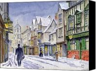 House Painting Canvas Prints - Edwardian St. Aldates. Oxford UK Canvas Print by Mike Lester