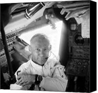 Edwin Canvas Prints - Edwin Buzz Aldrin (1930-) Canvas Print by Granger