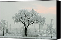 Ghostly Canvas Prints - Eerie Days Canvas Print by Christine Till