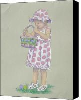 Young Pastels Canvas Prints - Egg Hunt Canvas Print by Pat Neely