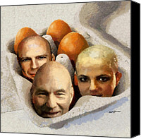 Eggs Digital Art Canvas Prints - Eggheads Canvas Print by Anthony Caruso