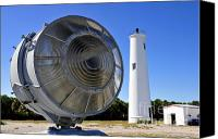 Tampa Bay Florida Canvas Prints - Egmont Key Lighthouse 1858 Canvas Print by David Lee Thompson
