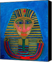 Colette Canvas Prints - Egypt Oilpaint Canvas Print by Colette Hera  Guggenheim
