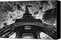 Cloud Canvas Prints - Eiffel Tower Canvas Print by Allen Parseghian