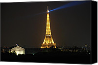 Beacon Canvas Prints - Eiffel Tower at Night Canvas Print by Jennifer Lyon