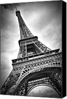 Attraction Digital Art Canvas Prints - Eiffel Tower DYNAMIC Canvas Print by Melanie Viola