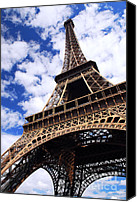 Construction Canvas Prints - Eiffel tower Canvas Print by Elena Elisseeva