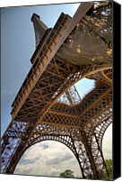 Ile De France Canvas Prints - Eiffel Tower In Perspective Canvas Print by Bernard Collardey Photographie
