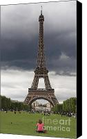 Stormy Photo Canvas Prints - Eiffel tower. Paris Canvas Print by Bernard Jaubert