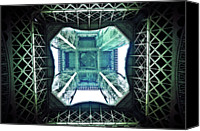 Engineering Canvas Prints - Eiffel Tower Paris Canvas Print by Fabien Astre