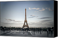 Puddle Canvas Prints - Eiffel Tower PARIS Canvas Print by Melanie Viola