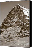 Alp Canvas Prints - Eiger North Face Canvas Print by Frank Tschakert