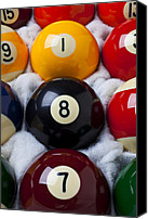 Ball Canvas Prints - Eight Ball Canvas Print by Garry Gay