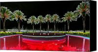 Surreal Landscape Canvas Prints - Eight Palms Drinking Wine Canvas Print by David Lee Thompson