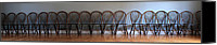 Dining Hall Canvas Prints - Eighteen Chairs Canvas Print by Andrew Fare