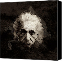 Albert Canvas Prints - Einstein Canvas Print by Laurence Adamson