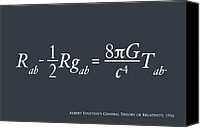 Poster Digital Art Canvas Prints - Einstein Theory of Relativity Canvas Print by Michael Tompsett