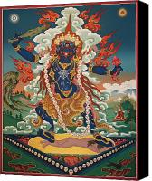 Thangka Canvas Prints - Ekajati Canvas Print by Sergey Noskov