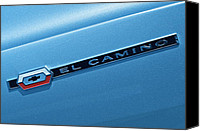 Blue Buick Canvas Prints - El Camino Canvas Print by Robert Harmon