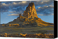 Peak One Canvas Prints - El Capitan Also Known As Agathla Peak Canvas Print by Tim Fitzharris
