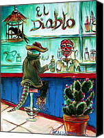 Liquor Canvas Prints - El Diablo Canvas Print by Heather Calderon