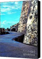 Puerto Rico Photo Canvas Prints - El Morro Fortress Canvas Print by Thomas R Fletcher