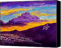 Landscapes Pastels Canvas Prints - El Pasos Star Canvas Print by Candy Mayer