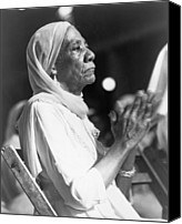 African Americans Canvas Prints - Elderly African American Woman Canvas Print by Everett