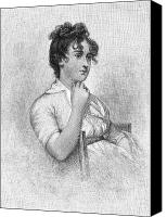 Hairstyle Canvas Prints - Eleanor Parke Custis Lewis (1779-1852) Canvas Print by Granger